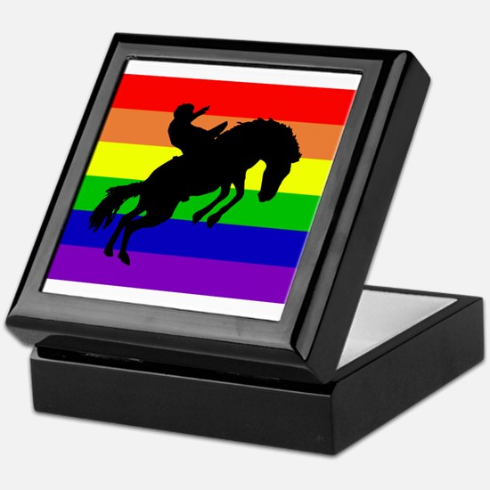 Gay Cowboy Keepsake Box