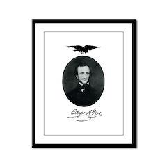 E.A. Poe Framed Panel Print