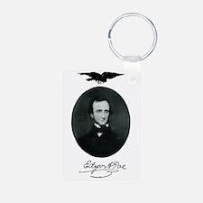 E.A. Poe Aluminum Photo Keychain
