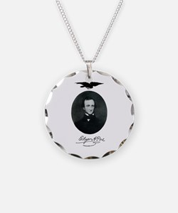 E.A. Poe Necklace Circle Charm
