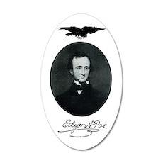 E.A. Poe 22x14 Oval Wall Peel