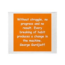 George Gurdjieff gifts and ap Throw Blanket