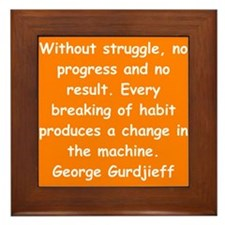 George Gurdjieff gifts and ap Framed Tile