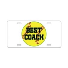 Softball Coach Gift Aluminum License Plate