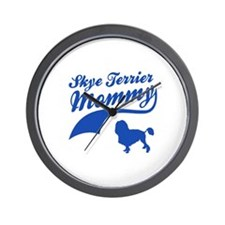 Skye Terrier Mommy Wall Clock