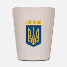 """""""Ukraine COA"""" Shot Glass"""