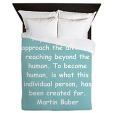 martin buber gifts and appare Queen Duvet