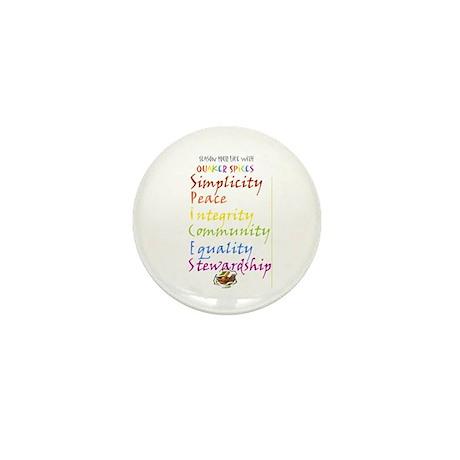 Quaker Spices Mini Button
