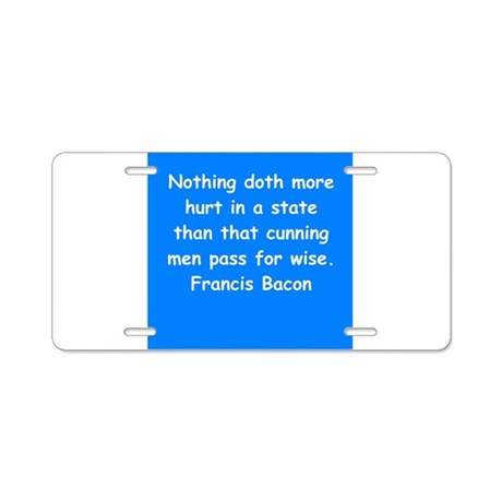 francis bacon Aluminum License Plate