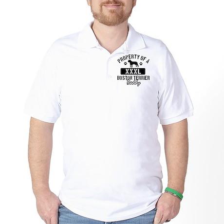 Boston Terrier Daddy Designs Golf Shirt