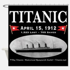 Titanic Ghost Ship (black) Shower Curtain