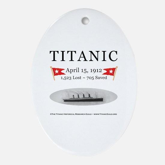 Titanic Ghost Ship (white) Oval Ornament Porcelain