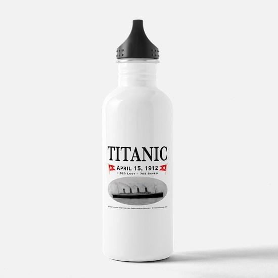 Titanic Ghost Ship (white) Water Bottle