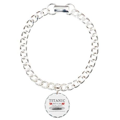 Titanic Ghost Ship (white) Charm Bracelet, One Cha