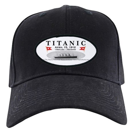 Titanic Ghost Ship (white) Black Cap