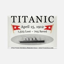 Titanic Ghost Ship (white) Rectangle Magnet (10 pa