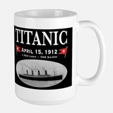 Titanic Ghost Ship (black) Large Mug