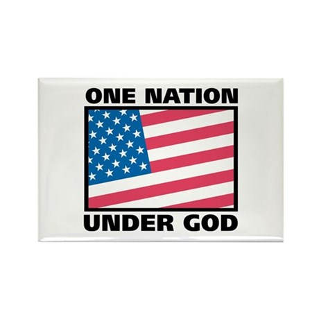 One Nation Rectangle Magnet