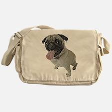 Pug Close-Up Messenger Bag
