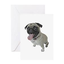 Pug Close-Up Greeting Card