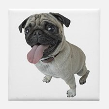 Pug Close-Up Tile Coaster
