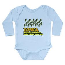 Iowa cornrows before hip Long Sleeve Infant Bodysu