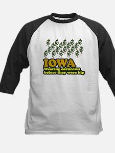 Iowa cornrows before hip Kids Baseball Jersey