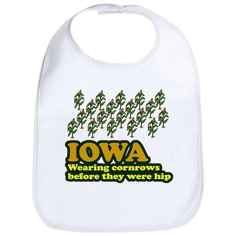 Iowa cornrows before hip Bib