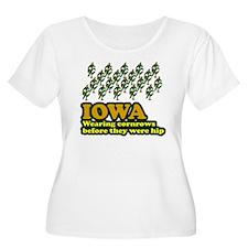 Iowa cornrows before hip T-Shirt