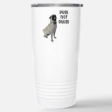 Pugs Not Drugs Travel Mug