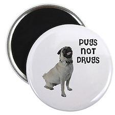 Pugs Not Drugs Magnet