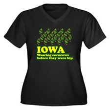 Iowa cornrows before hip Women's Plus Size V-Neck
