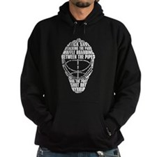 Hockey Goalie Mask Text Hoodie