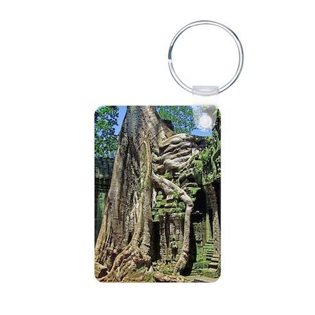 Te Phrom Tree Overgrowth 8 Aluminum Photo Keychain