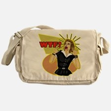 WTF? Retro humor Messenger Bag