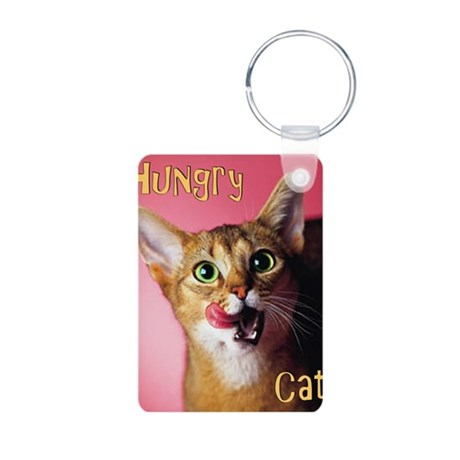 Cute Cat Aluminum Photo Keychain