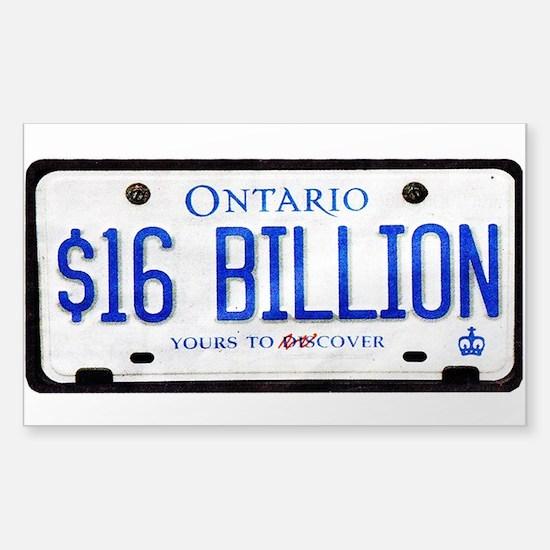 16 Billion Dollar Gear Sticker (Rectangle)