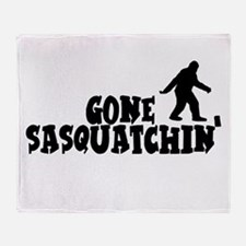 Gone Sasquatchin' Throw Blanket