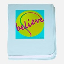 Believe (tennis ball) baby blanket