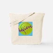 Believe (tennis ball) Tote Bag