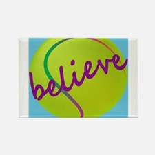 Believe (tennis ball) Rectangle Magnet