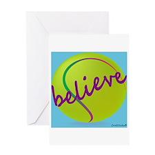Believe (tennis ball) Greeting Card