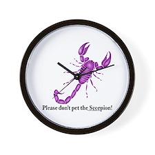 Don't pet the Scorpion! Wall Clock
