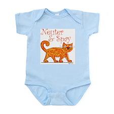 Neuter & Spay (Orange Cat) Infant Bodysuit