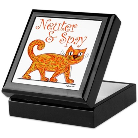 Neuter & Spay (Orange Cat) Keepsake Box