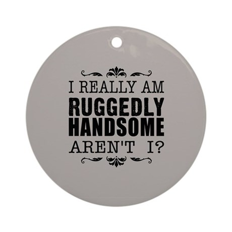 Kiki's Ruggedly Handsome Ornament (Round)