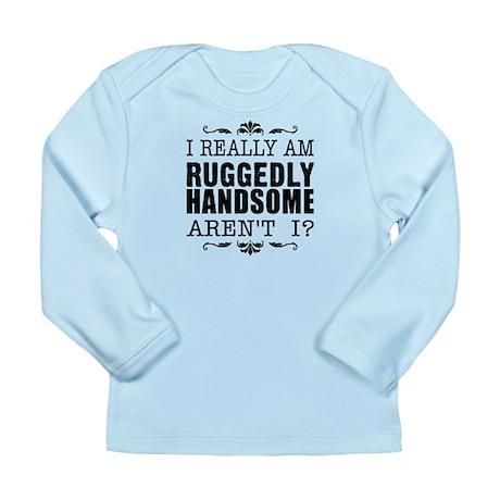 Kiki's Ruggedly Handsome Long Sleeve Infant T-Shir