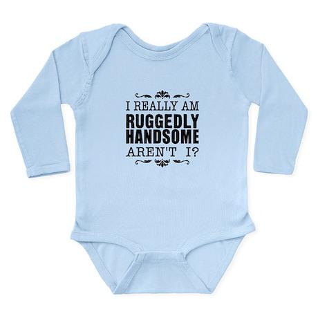 Kiki's Ruggedly Handsome Long Sleeve Infant Bodysu