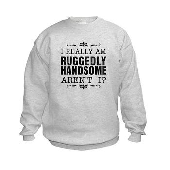 Kiki's Ruggedly Handsome Kids Sweatshirt