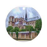Notre-Dame Cathedral 2 Ornament (Round)